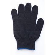 Перчатки рабочие х/б с нанесением ПВХ (ТОЧКА), 10 класс, цвет чёрный фото