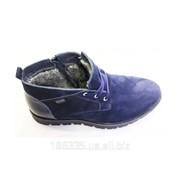 Зимние ботинки из натуральной замши арт. 50332 фото