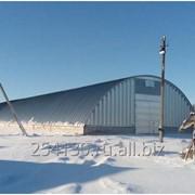 Зерносклады зернохранилище ангар арочный оцинкованный с габаритами 20*100 м фото