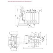 Трансформатор силовой двухобмоточный с расщепленными обмотками НН с РПН типа Трднс-25000-35 фото
