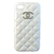 Крышка iPhone 4G Chanel белая прошитая фото