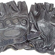 Перчатки кожаные беспалые СОБР фото