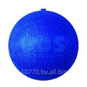 """Елочная фигура """"Шар с блестками"""", 25 см, цвет синий фото"""