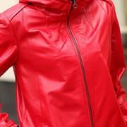 Кожаная куртка, капюшон фото