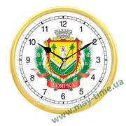 Настенные часы с логотипом gold фото