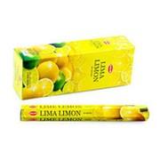 Благовония HEM, шестигранники, Lemon (Лимон), 20 палочек фото