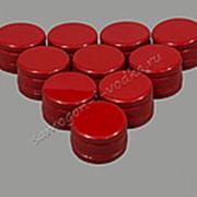 """Алюминиевый колпачок типа """"Винт"""" красный без резьбы 28х18 (10шт) фото"""