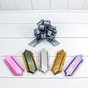 "Бант-шар OMG ""Граффити"", органза, полоска золото-серебро, 5 см., цвета ассорти, OM000594-50 фото"