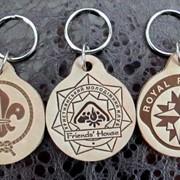 Кожаные брелки для ключей. фото