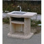 Мойка приставная к барбекю мрамор гранит Код: 13866052 фото