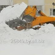 Уборка снега техникой фото