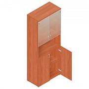 Шкаф для документов на регулируемых опорах Р.Ш.-4СТ (дверки снизу, матовое стекло сверху) 798х418х1960мм фото