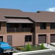 Проект Таун Хауз 4х186 с гаражами фото