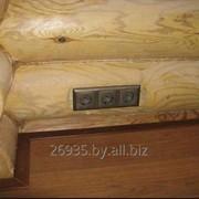 Монтаж электрики в деревянном доме. фото