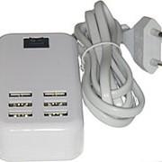 Зарядное устройство 6USB, 5000 mA фото