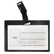Бейдж с пластиковым зажимом, горизонтальный, черный, 90 x 50 mm, forpus FO70702 фото