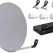 Комплект для самостійної установки на один телевізор для прийому телеканалів з 3- х супутників фото