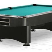 Бильярдный стол / пул Competition 9 ф (матовый черный) в комплекте фото
