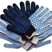 Рабочие перчатки х/б с ПВХ фото
