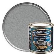 HAMMERITE HAMMERED молотковая эмаль по ржавчине, серебристо-серая (0,25л) фото