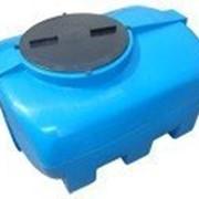 Емкость горизонтальная квадратная Тип SG синяя фото