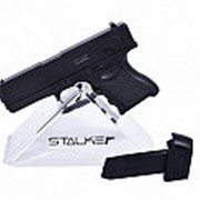 Пистолет пневм. Stalker SA17GM Spring (аналог Glock 17), к.6мм, мет.корпус, магазин 6шар, до 80м/с (36 шт./уп.) фото