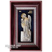 Серебряная икона Ангел-хранитель с Позолотой Код товара: ОСФ-САХ-03 фото