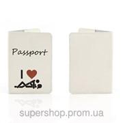 Кожаная обложка на паспорт Я Люблю 156-15510510 фото