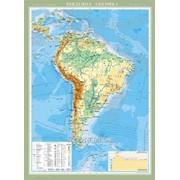 Південна Америка. Фізична карта, м-б 1:8 000 000 фото