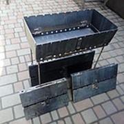Мангал чемодан разборной на 10 шампуров фото