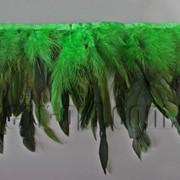 Перо-юбка зеленая с черными хвостиками 15-20см/48-50см 570823 фото