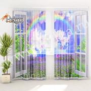 Вид из окна арт.ТФТ4800-h275 (145х275-2шт) фототюль (штора Шифон ТФТ) фото