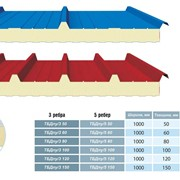 Сэндвич-панель кровельная 3 ребра ТБДпу/3 60 фото