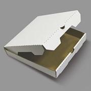 Коробка для пиццы 230х230х40 мм микрогофрокартон бело/бурый фото