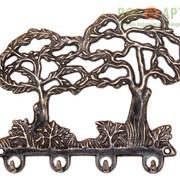 Ключница настенная - Деревья антик фото