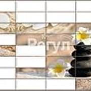 Листовая панель ПВХ Плитка Сад камней 960*480мм фото