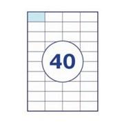 Этикетка самоклеящиеся а4, 40 шт на листе 52,5х29,7 фото