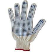Перчатки Эконом белые 3 нити 10 кл вязки фото