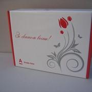 Подарочная рекламно-имиджевая упаковка из картона фото