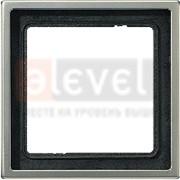 Рамка JUNG 1-кратная, алюминий фото