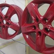 Порошковое покрытие автомобильных дисков фото