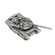 Модель Танк Т-72БМ, олово (подарочная упаковка) фото