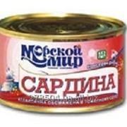 Сардина атлантическая обжаренная в томатном соусе, 240 гр. фото