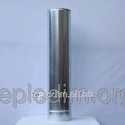 Двустенная дымоходная труба нерж/оцинк 1м толщина 1,0мм ф160х220 фото
