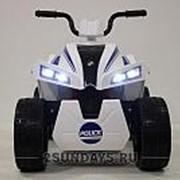 Детский квадроцикл на аккумуляторе T555TT белый полицейский фото