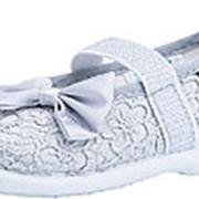 131106-11 серый туфли ясельно-малодетские текстиль Р-р 25 фото