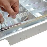 Услуга переоборудования растрового светильника под светодиодные лампы фото