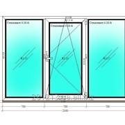 Окно пластиковое трехстворчатое 1400*2100; п\о WDS 400 фото
