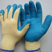 Перчатки Х/Б 10 класс с рифленым покрытием из натурального латекса, перчатки стекольщика фото