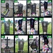 Надгробие из базальта фото